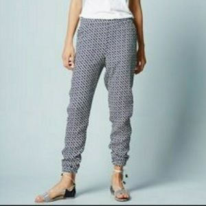 Boden Blue Print Woven Relaxed Pants